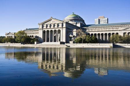 windy city: Museo de la Ciencia y la Industria en Chicago Foto de archivo