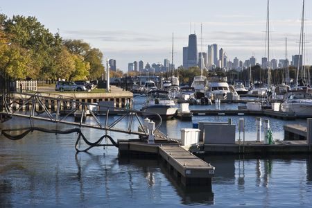 Downtown Chicago seen from north side Stock Photo - 4073315