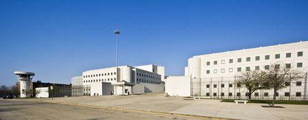 刑務所の建物のシカゴ、イリノイ州 写真素材