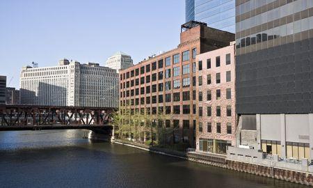 merchandise mart: Chicago River curve by Merchandise Mart
