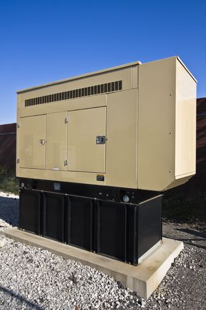 Generator installed on cellular compound.