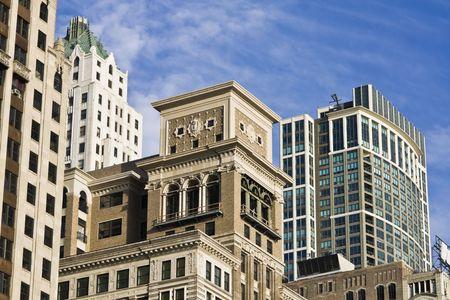 Architecture along South Michigan Avenue in Chicago Stock Photo - 4073240