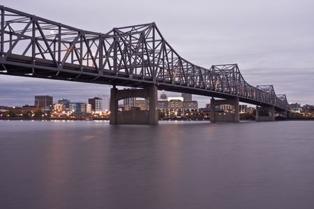 Peoria, IL - Bridge and Downtown view.