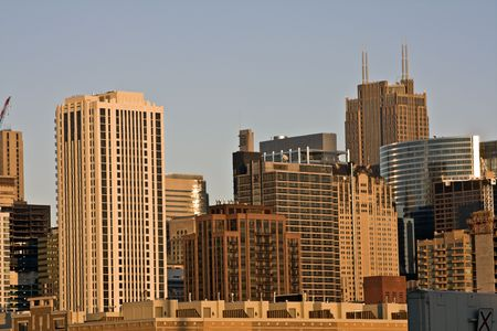 Golden sunset in Chicago, IL. Stock Photo - 4073393