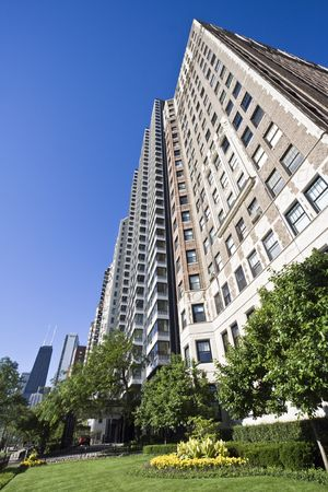 Lakefront Chicago Apartment Building - Chicago Stock Photo - 4073115