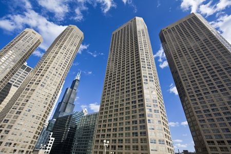 Apartment buildings in Chicago, IL. Stock Photo - 4073181