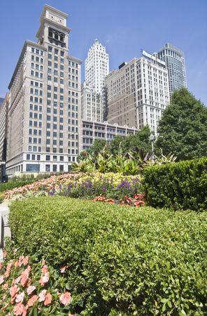 magnificent mile: Buildings along Michigan Avenue - Chicago, IL.