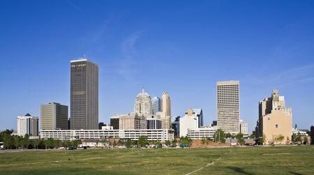 oklahoma city: Skyline of Oklahoma City, Oklahoma.