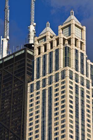 cna: Architettura di Chicago, IL tardo pomeriggio.