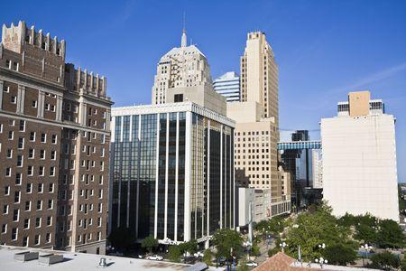 oklahoma city: Downtown of Oklahoma City - morning time. Stock Photo