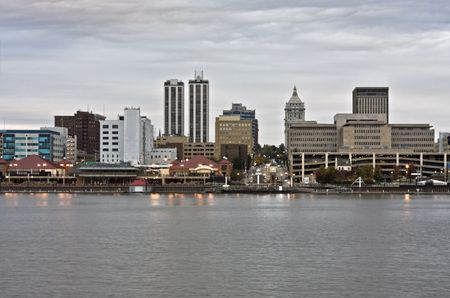 Downtown Peoria accross the river