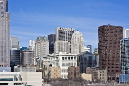 magnificent mile: Chicago, IL from the South Side Stock Photo