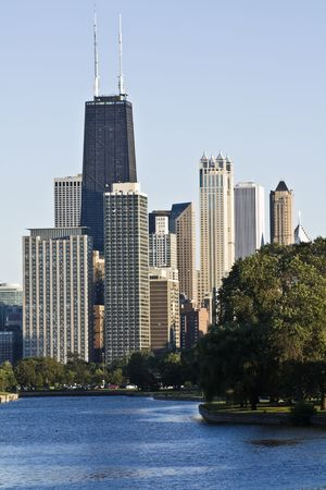 Downtown Chicago seen from Lincoln Park photo