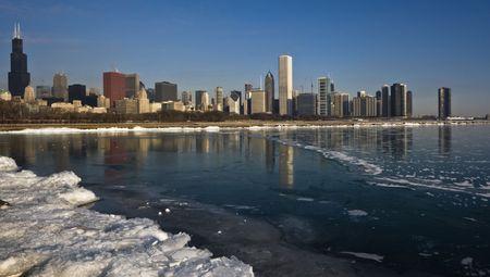 cna: Inverno nel centro di Chicago, IL. Archivio Fotografico