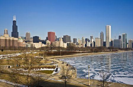 cna: Inverno freddo a Chicago, IL. Archivio Fotografico