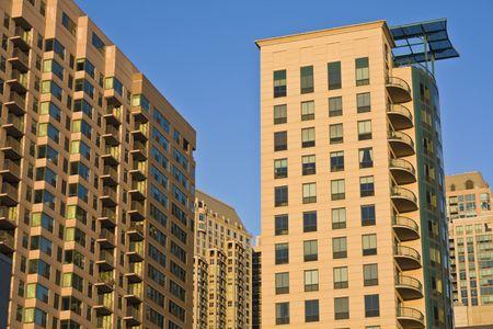 cna: Nuovo edificio in condominio di Chicago, IL. Archivio Fotografico