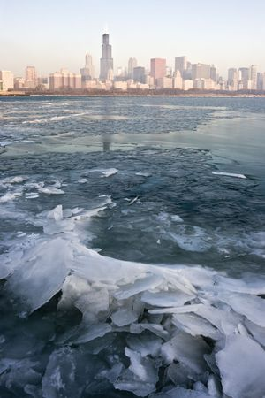 cna: Freezy mattina a Chicago, IL.
