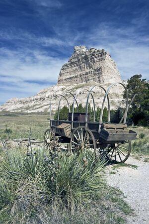 nebraska: Oregon Trail - seen in Nebraska Stock Photo