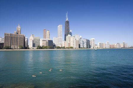 magnificent mile: Gold Coast in Chicago, IL.