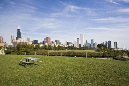 cna: Panorama del centro de Chicago, IL.