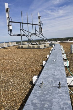 Cellular antennas on the roof