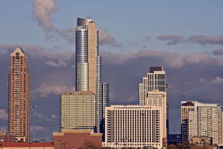 cna: Sur en el centro de Chicago, IL. Foto de archivo