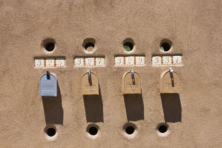 Mailboxes in Santa Fe, NM.