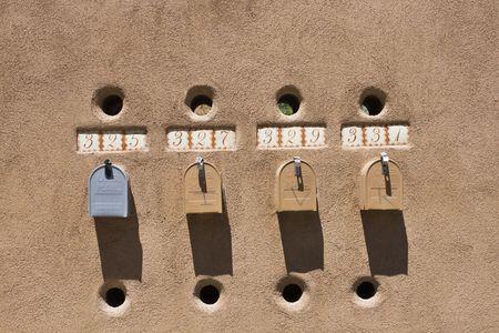fe: Mailboxes in Santa Fe, NM.