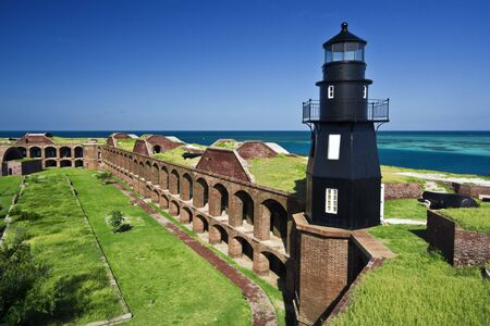 fort jefferson: The walls of Fort Jefferson are situated on a tropical Garden Key, presently a part of Dry Tortugas National Park.