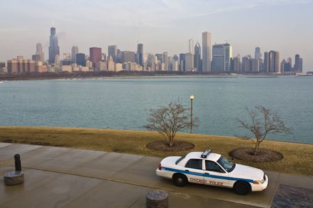 CHicago Police - serving and protecting Stock Photo - 4927850