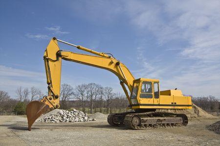 Yellow Excavator ready for work, Banco de Imagens