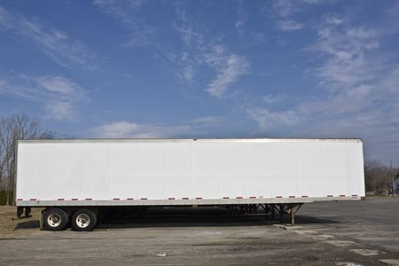 Parked trailer ready for pick up. photo
