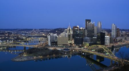 Night in Downtown Pittsburgh, Pennsylvania. photo