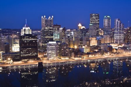 Night Skyline of Pittsburgh, Pennsylvania photo