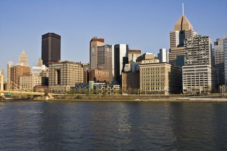 Skyscrapers in Downtown Pittsburgh, Pennsylvania. photo