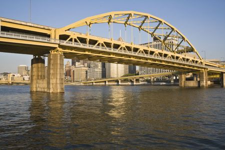 Bridge in Downtown Pittsburgh, Pennsylvania. photo