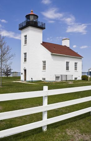 Sand Point Lighthouse - Escanaba, Michigan.