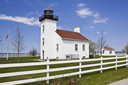 lake michigan lighthouse: Sand Point Lighthouse - Escanaba, Michigan.