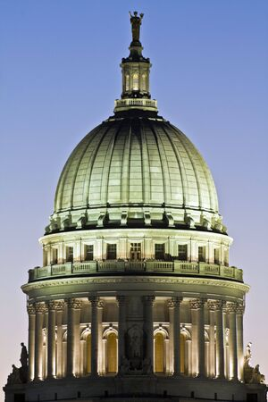 state of wisconsin: State Capitol of Wisconsin in Madison. Stock Photo