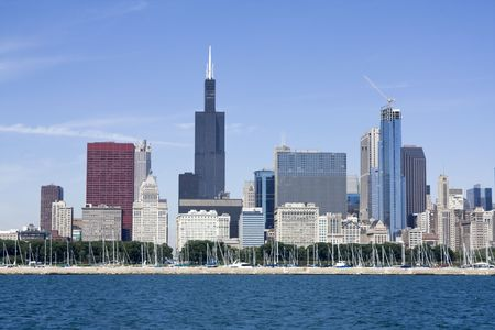 aon: Downtown Chicago seen from Lake Michigan