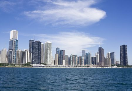 Downtown Chicago seen from Lake Michigan. Stock Photo - 5231524