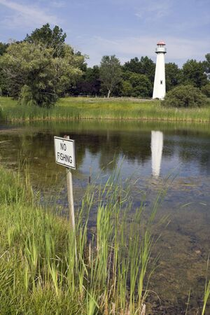No fishing in the pond. photo