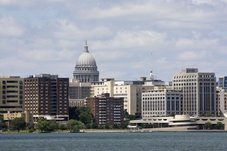 Buildings in Downtown of Madison photo