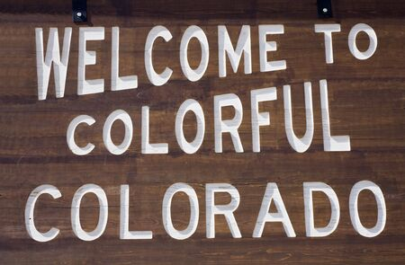 colorado: Welcome to Colorado sign.