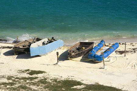 immigrants: Boats of Cuban Immigrants - Dry Tortugas National Park