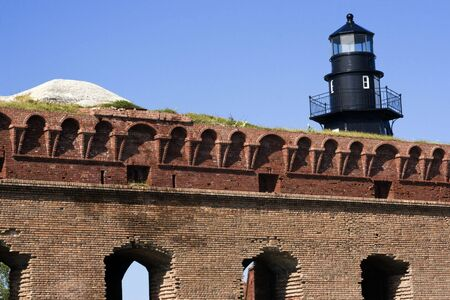 fort jefferson: Walls of Fort Jefferson - Dry Tortugas National Park.