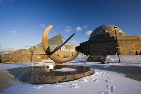 Afternoon by Adler Planetarium in Chicago. photo