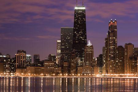 windy city: Chicago a trav�s del lago - el tiempo de expiraci�n. Foto de archivo