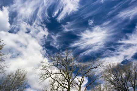 cirrus: Amazing Cirrus clouds - spring time Stock Photo