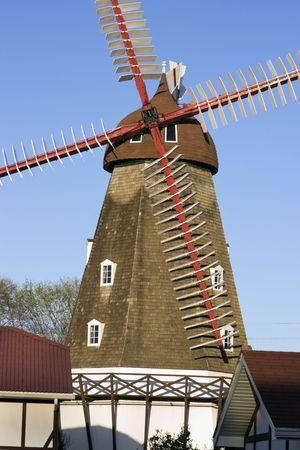 elk horn: Molino de viento daneses en Elk Horn, Iowa. Foto de archivo